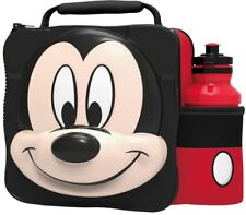 MICKEY MOUSE Insulated 3D Lunch Bag Box And Drink Sport Water Bottle Set