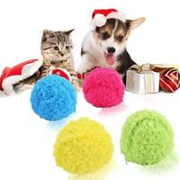 Pet Dog Cat Automatic Roller Ball Toy Dog Plush Toy Best Motion Activated B L0Z1