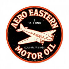 "Aero Eastern Oil 14"" Round Metal Sign PTS195"