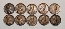 Lincoln Wheat Cent Penny - Lot of 10 Coins - Mixed Dates: 1941 - 1957 (lot# 38)