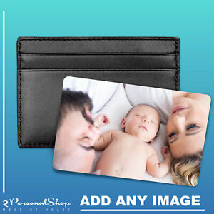 Personalised Photo Wallet Card Metal Mini Card Insert for Wallet Purse Gift