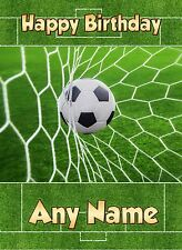 Personalised Football Birthday Card Any Name/Age Boy Son Grandson Nephew Cards