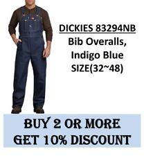 Dickies 83294Nb Bib Overalls, Indigo Blue, Sizes 32 to 48