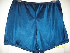 "NAVY BLUE 2 Layer NYLON TRICOT Boxers PETTIPANT Shorts  34 - 48""  Waist 16"" Long"