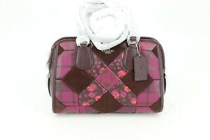 Coach Patchwork Nolita Convertible Satchel Bag Purse Cyclamen Purple 36557