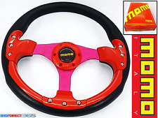 MOMO 350mm DEEP DISH Volante Rosso/Nero Rally Drift OMP NARDI SPARCO 19-2