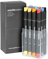 Stylefile Marker 12 er Set Main A Colours Grundfarben - Blackbook Sketchbook