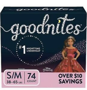 """GoodNites Bedtime Underwear for Girls """"S/M -74 ct. (38-65 lbs.)"""""""