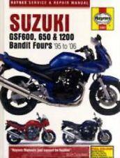 1995-2006 Haynes Suzuki GSF600, 650 & 1200 Bandit Fours Hardback Repair Manual