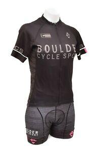 Panache Short Sleeve Cycling Kit Women SMALL Black Road Bike Colorado Team BCS