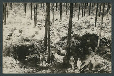 Foto RIR 229 Ostfront Schlacht Przasnysz Offiziere Unterstand Tarnung Wald 1915