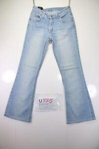 Lee Felton Zampa(Cod.U775)Tg43 W29 L33 jeans usato ACCORCIATO donna vintage