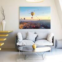 Canvas Wall Art Hot Air Balloon Print Framed Painting Living Bedroom Home Decor