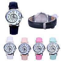 NEW Fashion Women's Swirl Pattern Leather Band Analog Quartz Wrist Watch Gift