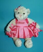 "GUND Jacqueline Cheerleader Teddy Bear 8"" Pink Mini Stuffed Plush Soft Toy 15119"