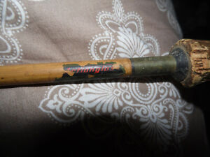 """Vntg Actionglas 1766 6' 6"""" tubular glass 1-piece fly rod by Orchard Industries"""