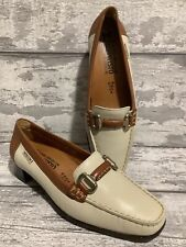mephisto Air Relax Tan Brown Cream Loafers UK 5.5 Flats Smart Small Heel Classy