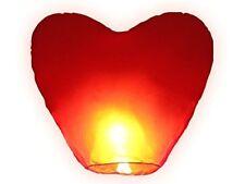 Jring Rojo Corazón Forma Faroles del Cielo, chino tradicional, Linternas brillante de vuelo