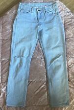 Levis Vintage Denim Straight Orange Tag Big E 27 Jeans High Waist Light Blue