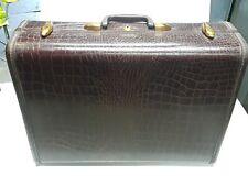 Vintage Samsonite Suitcase Luggage Leather Alligator 4132
