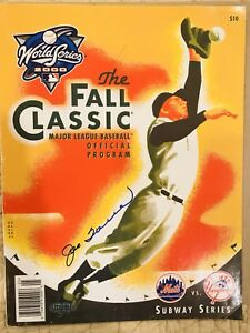 Yankees HOF JOE TORRE Signed 2000 World Series Program, Steiner Auth