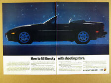 1989 Porsche 944 S2 Cabriolet convertible car photo vintage print Ad