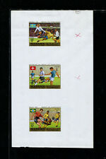 Manama1970 Soccer/Football World Cup Michel 262-67 Proofs with Values Misplaced