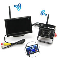 12V Wireless Parking System Kit 5inch Dash Monitor + LED Reverse Backup Camera