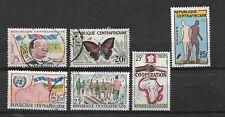 Lot de 6 timbres - REPUBLIQUE CENTRE AFRIQUE - 5 oblitérés & 1 (*) - (17)