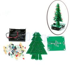 3D Christmas Tree LED DIY Kit Red/Green/Yellow Flash Circuit Electronic Gift HW