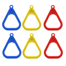 3 Pairs of Kids Swing Rings Outdoor Playground Trapeze Swing Accessory