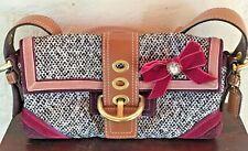 COACH Soho Tweed Suede Leather Rhinestone Purse Handbag C052-8F01