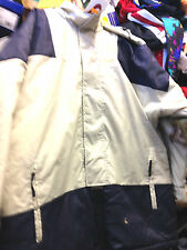 NIKE WINTER  JACKET QUILTED LINED  £30 £79.99 IN  40/42 INCH BEIGE/NAVY