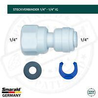 "Steckverbinder 1/4"" Quick&Easy x 1/4"" IG Umkehrosmose Wasserfilter Verbinder"