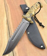 MTech USA Bowie Knife Hunting Tactical Clip Point  Knives  MT-20-57CA