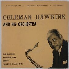 "COLEMAN HAWKINS & HIS ORCHESTRA: Rare Clef Records Jazz 7"" 45 EP"
