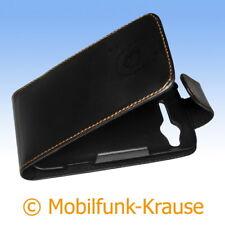 Flip Case Etui Handytasche Tasche Hülle f. HTC Salsa (Schwarz)