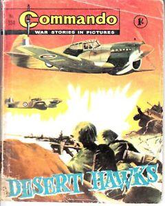 COMMANDO COMIC - No 334   DESERT HAWKS