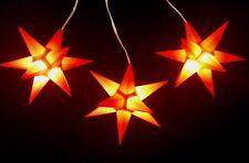 3 Il Ensemble LED étoile de l'Avent Ø11 intérieur et Star en plein air orange