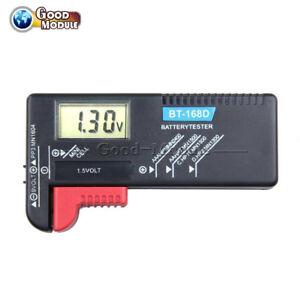Digital LCD Battery Tester Volt Checker F 9V 1.5V AA AAA Cell BT-168D Universal