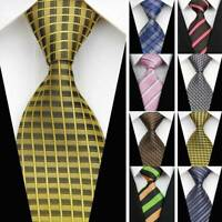 NEW 8 Styles Mens Silk Tie Set Jacquard Woven Necktie Set Wedding Paisley Stripe