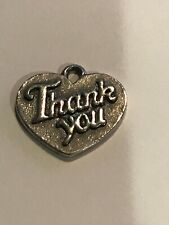 RETIRED James Avery Sterling Silver Thank You HEART Charm or Pendant