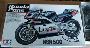 Tamiya 1:12 Honda Pons Bike Motorcycle Model Kit NSR500 01