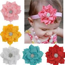 5PCS Kid Baby Girl Toddler Rhinestone Flower Headband Hair Bow BandAccessories