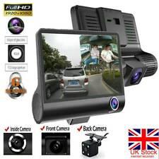 "1080P Car DVR 4""Dual Lens Dash Cam Front and Rear Video Recorder Camera G-sensor"