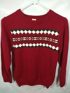 Boys Sweater Size 10-12 Large Maroon Gymboree Nordic Knit Long Sleeve Winter
