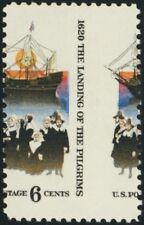 1420, 6¢ Pilgrims LARGE Misperforation ERROR Mint NH - Stuart Katz