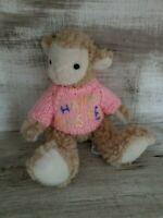 ADORABLE HUGFUN CURLY HAIRED Happy Easter SHEEP LAMB PLUSH JOINTED STUFFED