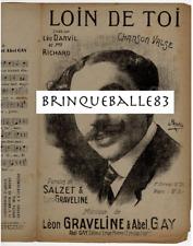 RUE LÉO DARVIL PARTITION BIEN LOIN DE TOI LÉON GRAVELINE ABEL GAY 1909 PREVEL