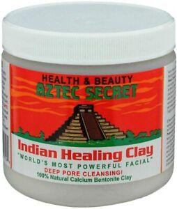 Aztec Secret Indian Healing Clay 100% Natural Calcium Bentonite Clay Face Mask